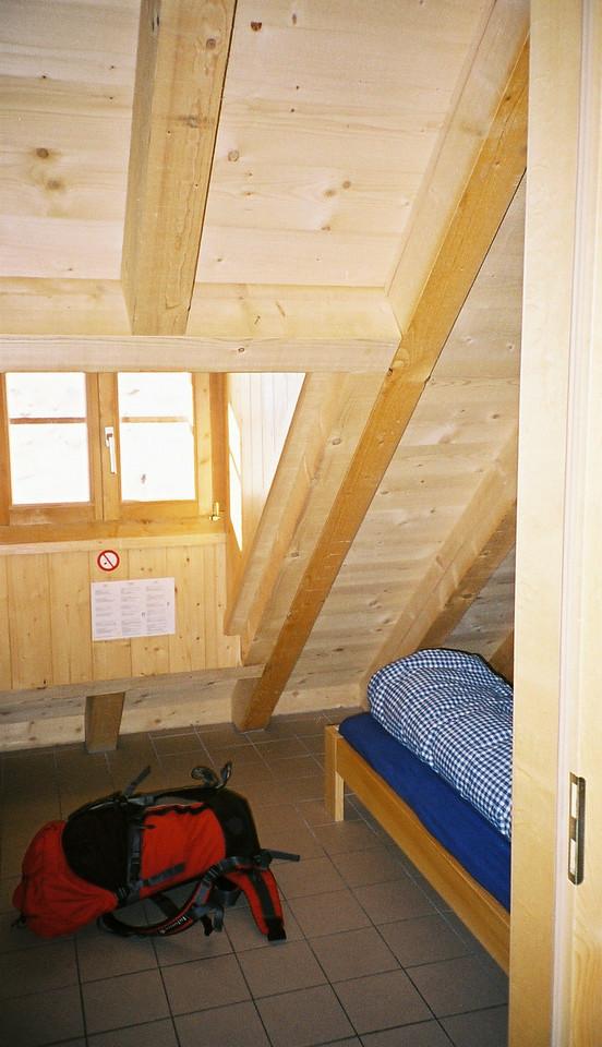 Day 2 012 Room in Cabane du Mont Fort