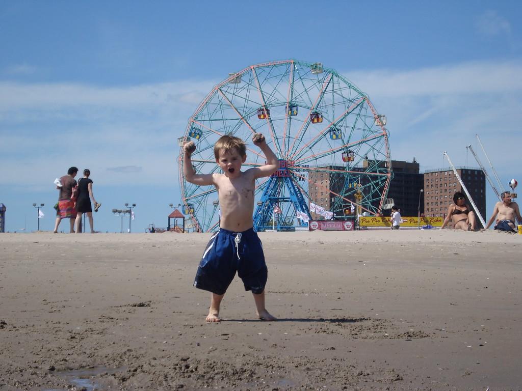 175 Jack Enjoying Coney Island