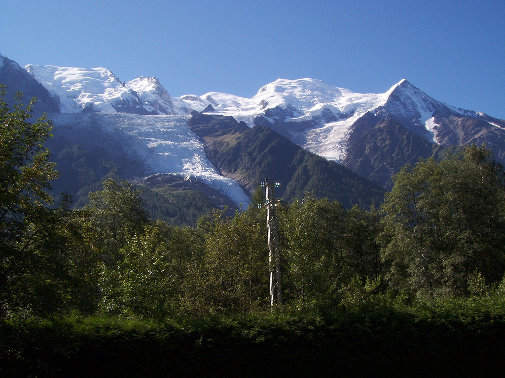 View of Mont Blanc from our terrasse
