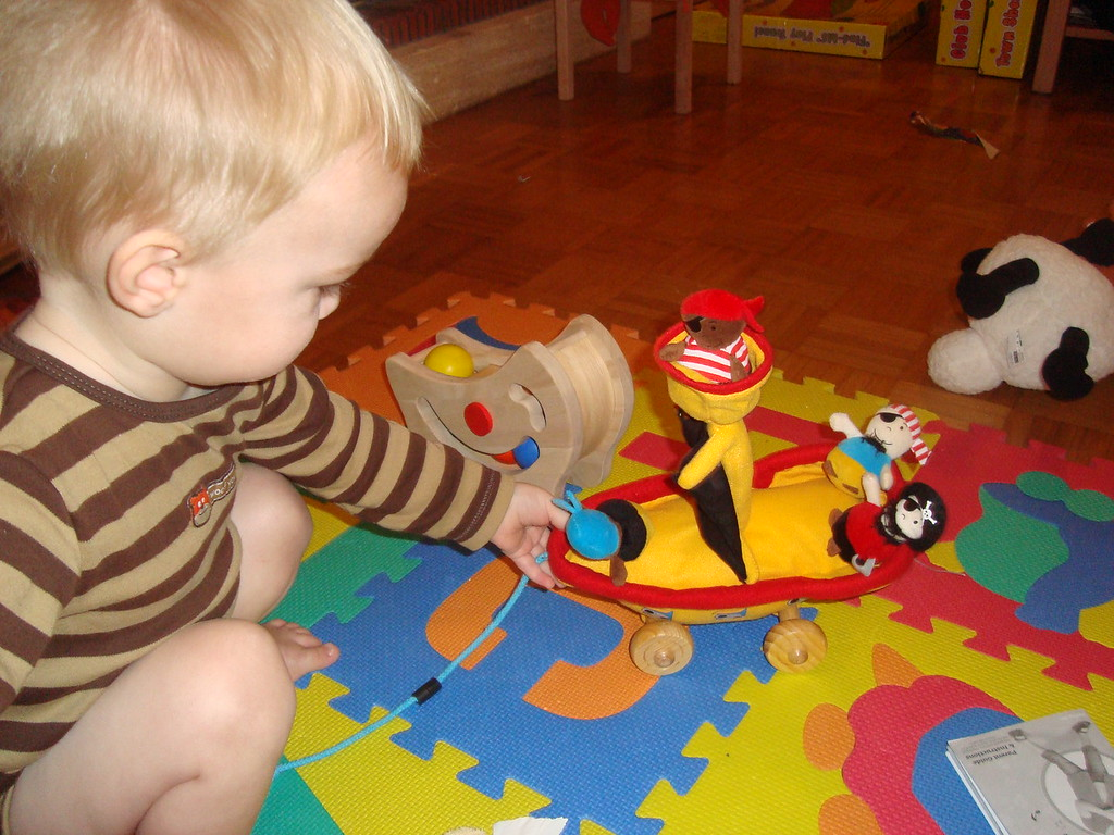 This soft pirate ship is Mike's favourite toy from this year haul :)