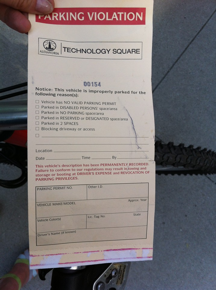 Parking ticket for my bike :)