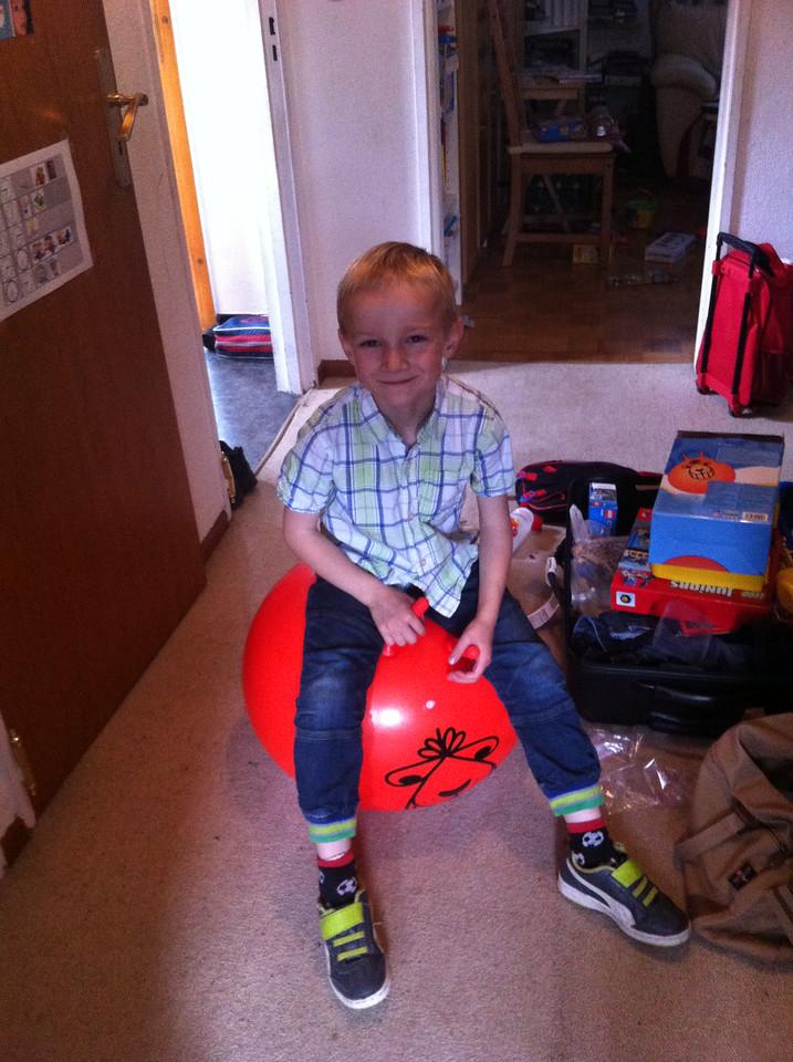 Loving his Bouncy Hopper