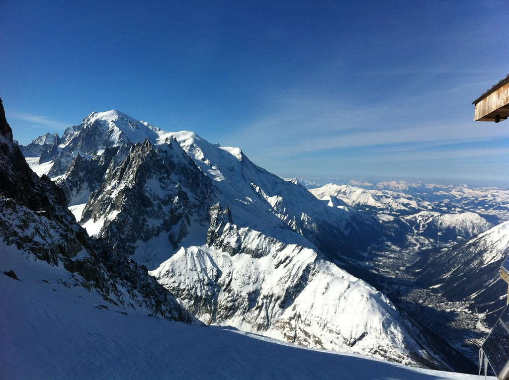 Mont Blanc from the top of Grands Montets again. Just spectacular