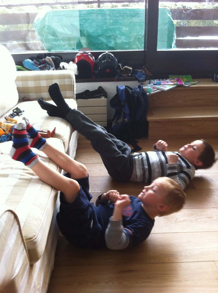 The boys want to work-out too ...