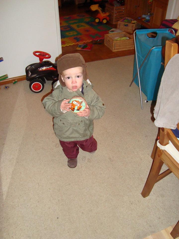 Danny modelling last year's hat & jacket fashion, courtesy of Cullen
